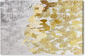"The Oliver Gal Artist Co. Gold vs Platinum | Contemporary Premium Canvas Print The Abstract Wall Art Decor Collection, 24"" x 16"""