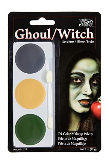 Amazon.com : Mehron Makeup Tri-Color Halloween Makeup Palette (GHOUL/WITCH) : Costume Accessories : Beauty