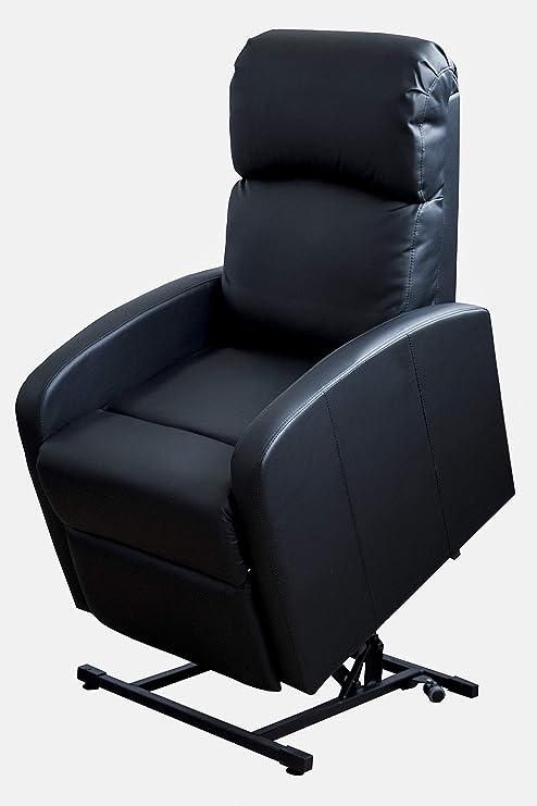 Astan Hogar Sillón Relax Con Función Auto-Ayuda (Levanta Personas), Reclinación Eléctrica, Tapizado en PU Anti-Cuarteo. Modelo Premium AH-AR30620NG, ...