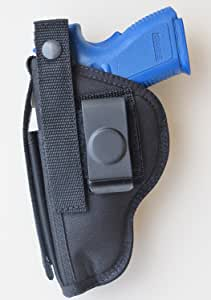 """Hip Holster for FNX 9mm & 40 with 4"""" Barrel Built-in Extra Magazine Pouch"""