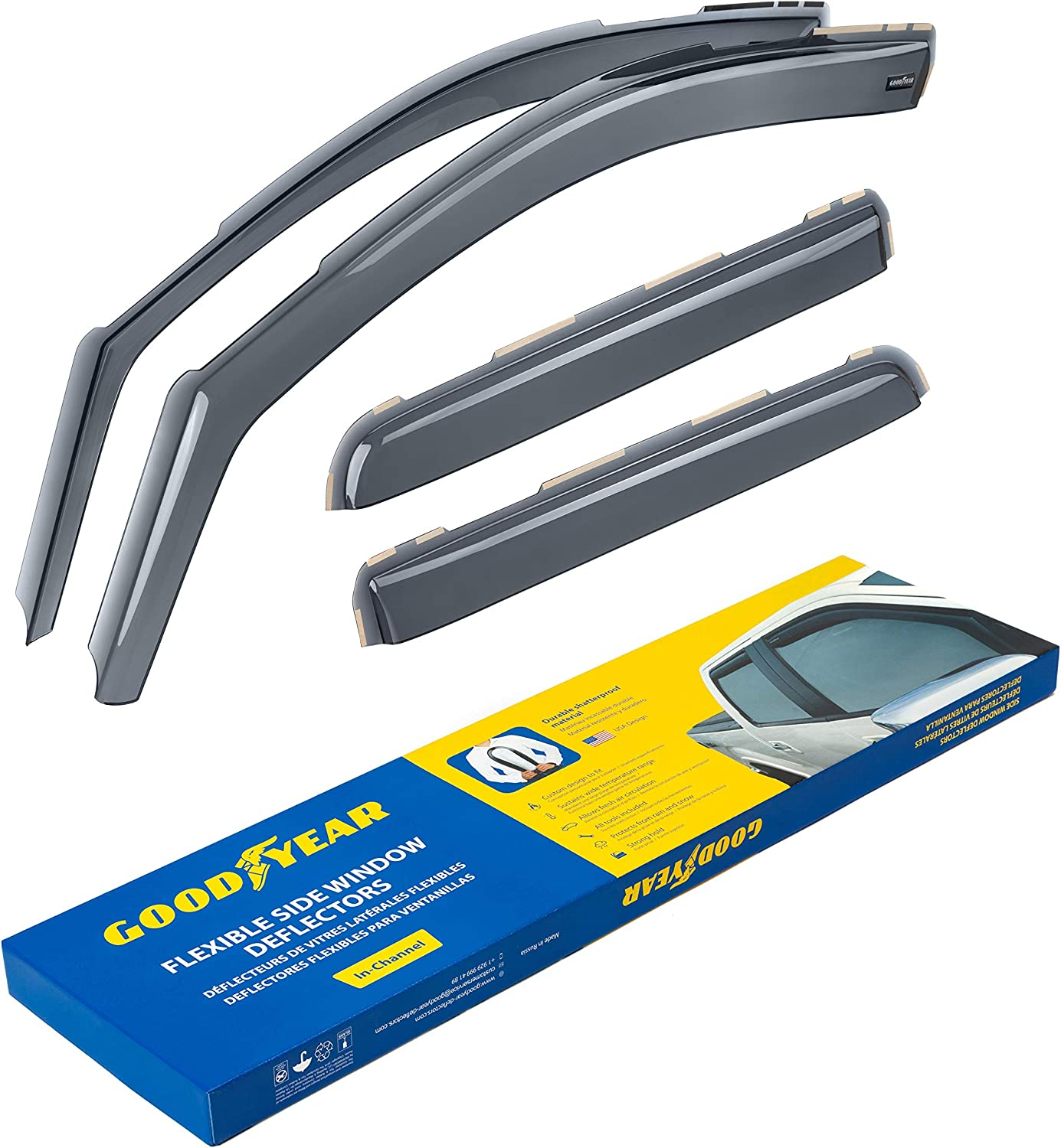Goodyear In-Channel Vent Visors