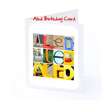 Boys Personalised Cards 7x5 ALED Photo Birthday Card Or Greeting With FREE Delivery Amazoncouk Kitchen Home