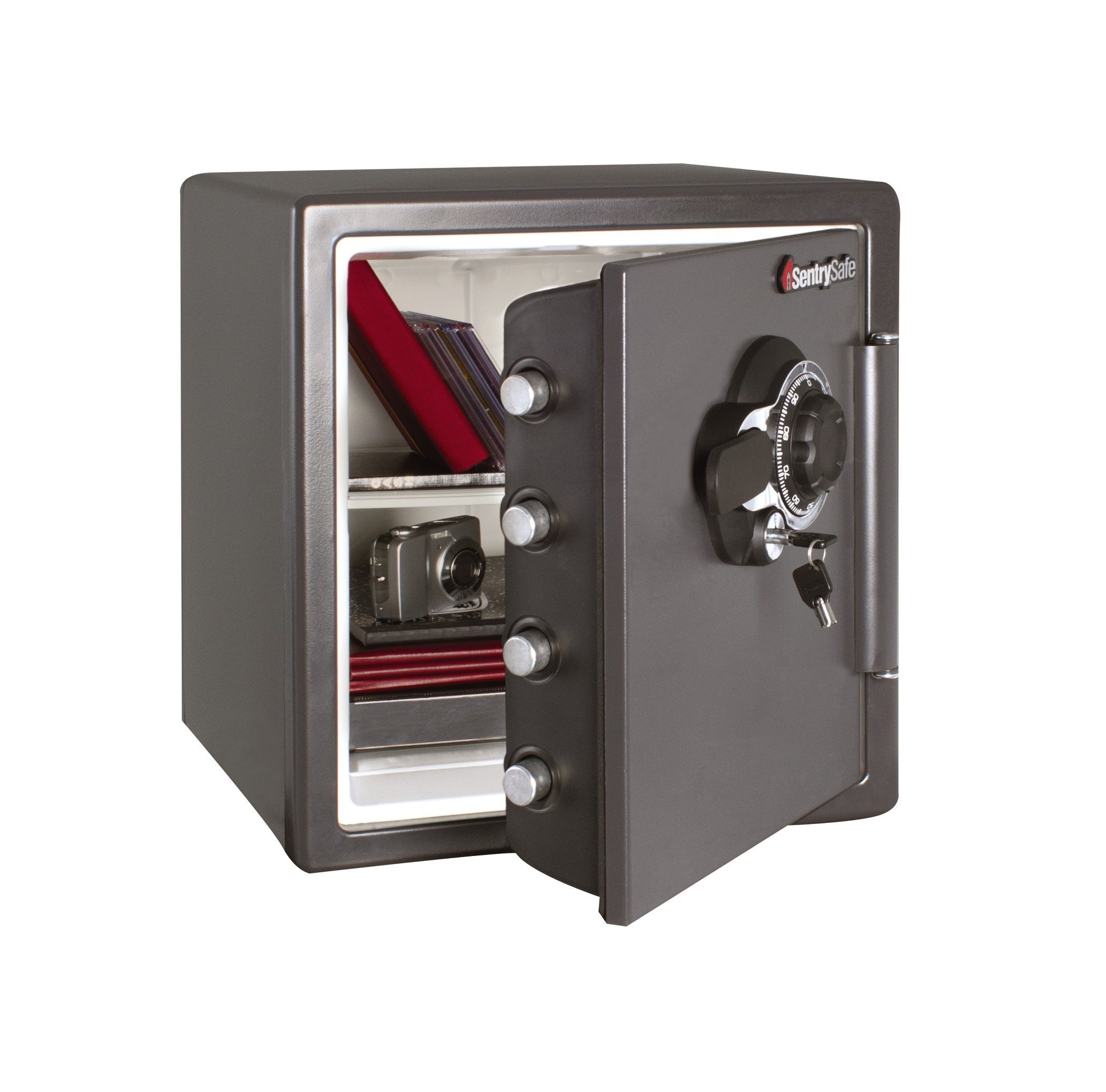 SentrySafe Fire and Water Safe, Extra Large Combination Safe with Dual Key Lock, 1.23 Cubic Feet, SFW123DSB