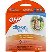 OFF! Clip-On Mosquito Repellent Refill, Works on All OFF! Brand Clip-On Repellent Units, 2 Count