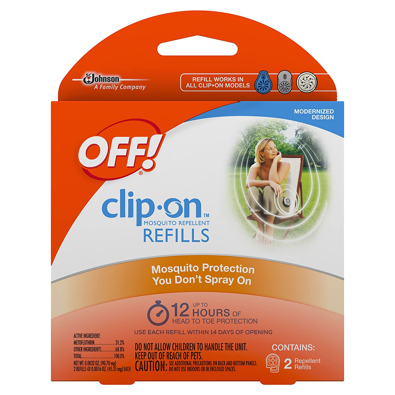 amazon com off clip on insect repellant refill 2 count