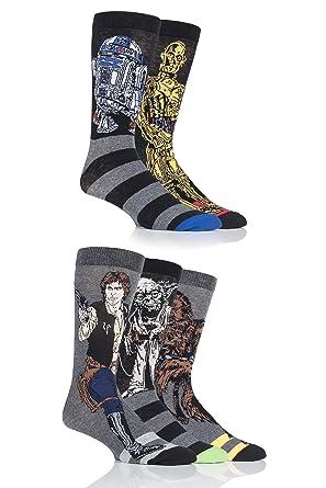 rey et finn chaussettes Homme 3 paire star wars nouveaux héros BB-8