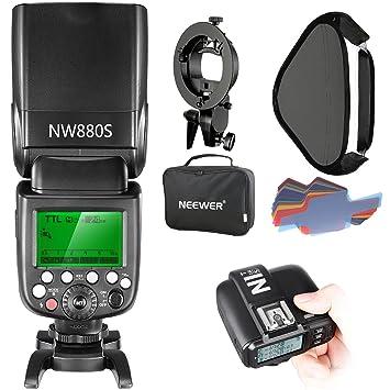 Neewer 2.4G Wireless 1/8000 HSS TTL Master/Slave Blitz Speedlite Set für Sony Kamera mit neuem Mi Schuh, Enthält: NW880S Blit