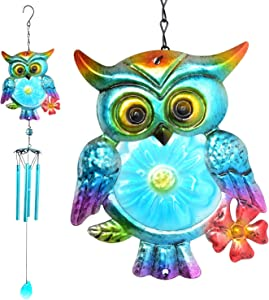 zhengshizuo Iron Wind Chimes owl Wind Chimes, Memorial Wind Chime,Wind Chimes Outdoor, Home Decor, Yard Decor, Wind Chimes Outdoor Large deep Tone, Gifts for mom, Birthday Gifts, Grandma Gift