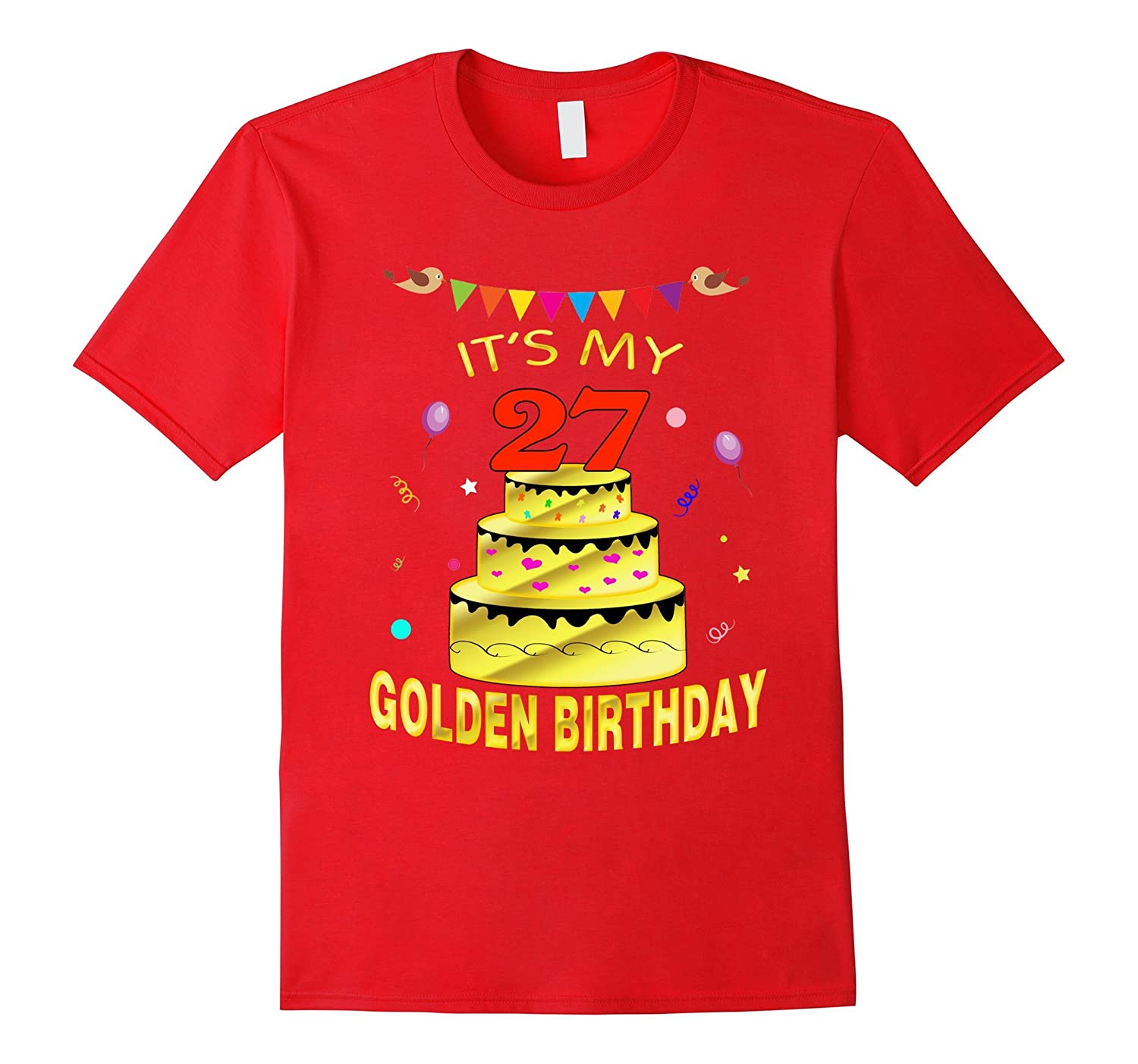Vintage Golden Birthday Shirt It's My 27th Golden Birthday-FL