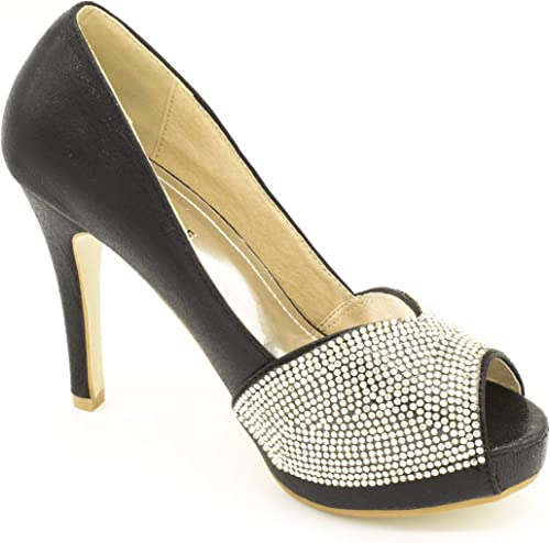 Ladies Wedding Bridal Shoes Silver