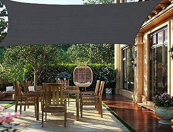 HENG FENG Toldo Vela de Sombra Rectangular 2 x 3 m Protección ...