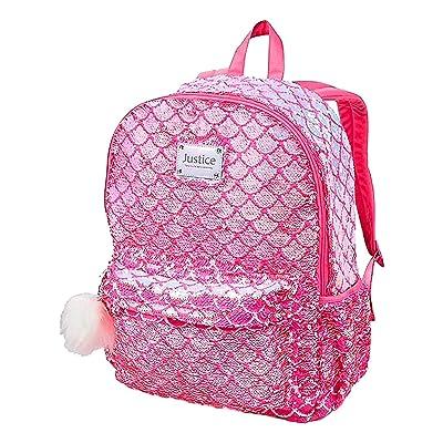 Justice Flip Sequin Backpack Mermaid Pretty Pink Poly   Kids' Backpacks