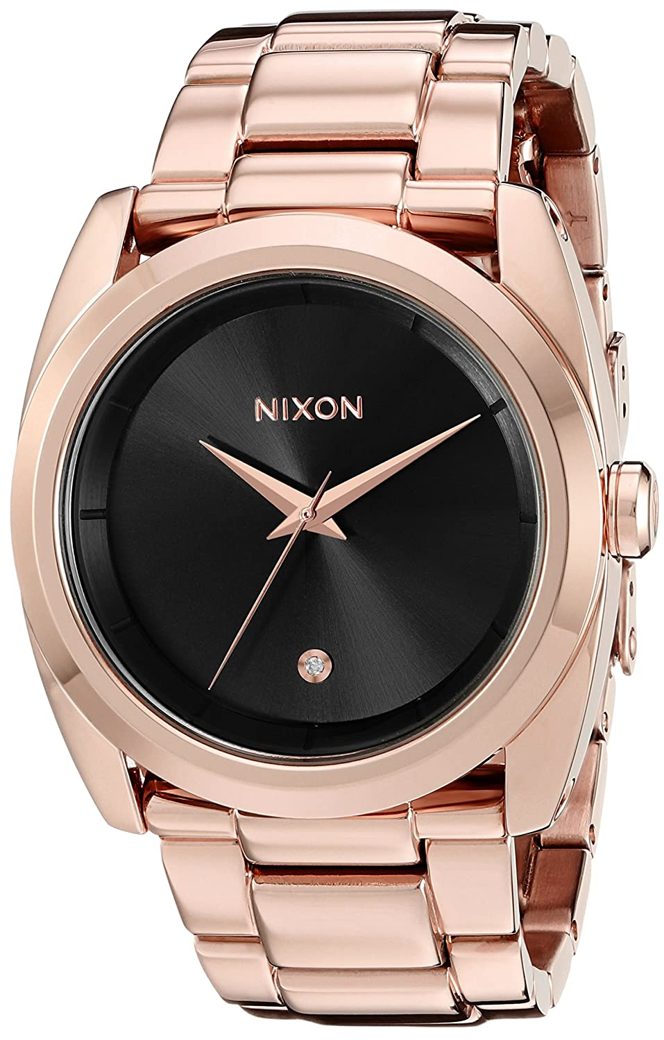 Nixon Women s A9352046 Queenpin Analog Display Japanese Quartz Rose Gold Watch