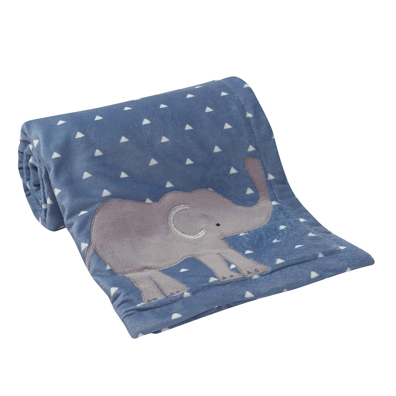 Gray//Blue Lambs /& Ivy Animal Crackers Jungle Blanket