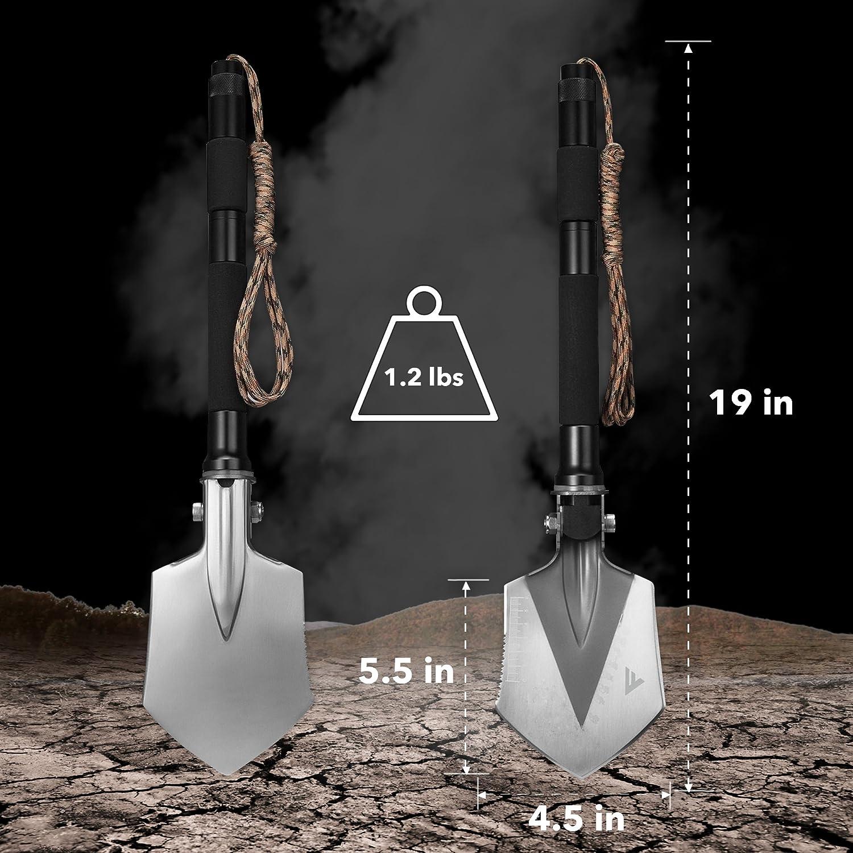 FiveJoy Military Folding Shovel Multitool