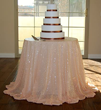 120u0026quot; Peach Sequin Table Cloth Wholesale Sequin Linens 120u0026quot; Round  Sparkly Sequin Tablecloths Sequin