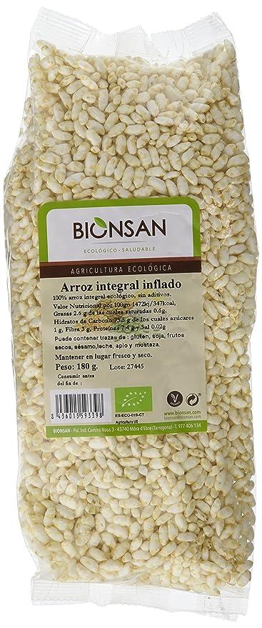 Bionsan Arroz Integral Inflado - 3 Paquetes de 180 gr - Total: 540 gr: Amazon.es: Alimentación y bebidas