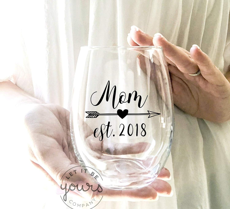 Copa de vino establecida para el día de la madre, regalo para mamá, regalo de larga distancia, regalo para el día de la madre, regalo para el día de la madre personalizado
