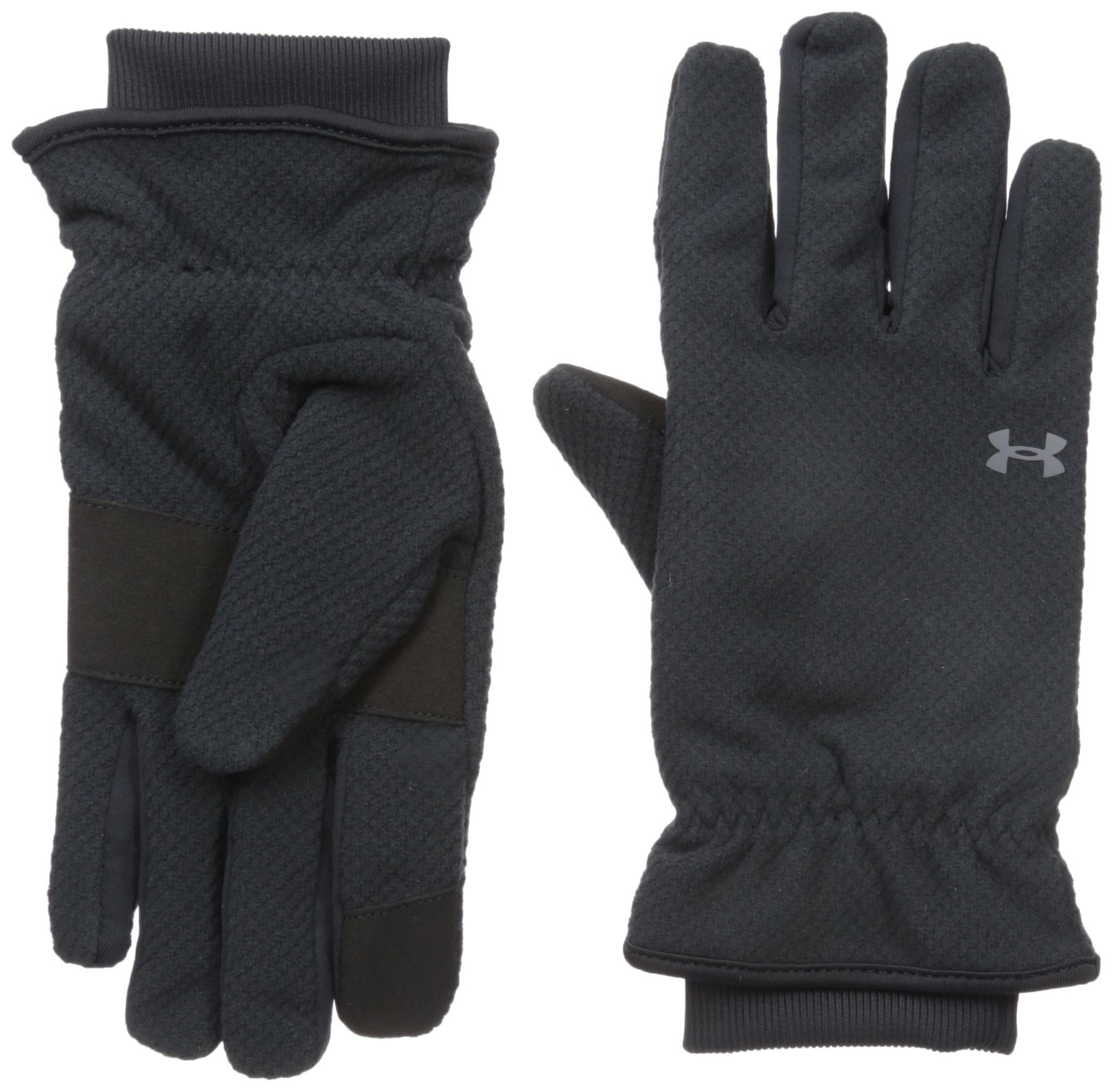 Under Armour Women's ColdGear Infrared Fleece Gloves, Black (001)/Rhino Gray, Large by Under Armour
