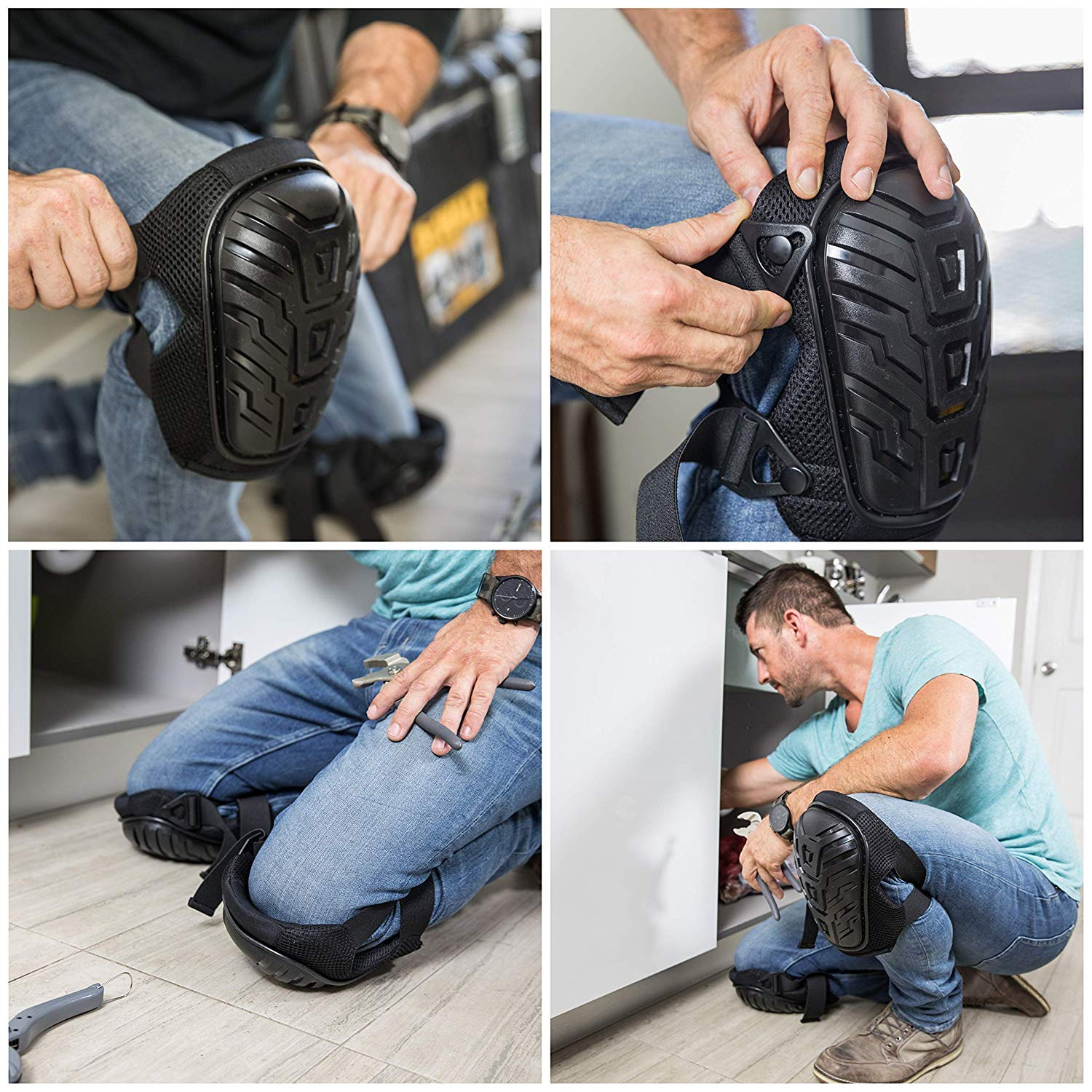 Rough Work Gear Professional Knee Pads - Built Tough To Last - Will Stay In Place All Day Long by Rough Work Gear (Image #6)