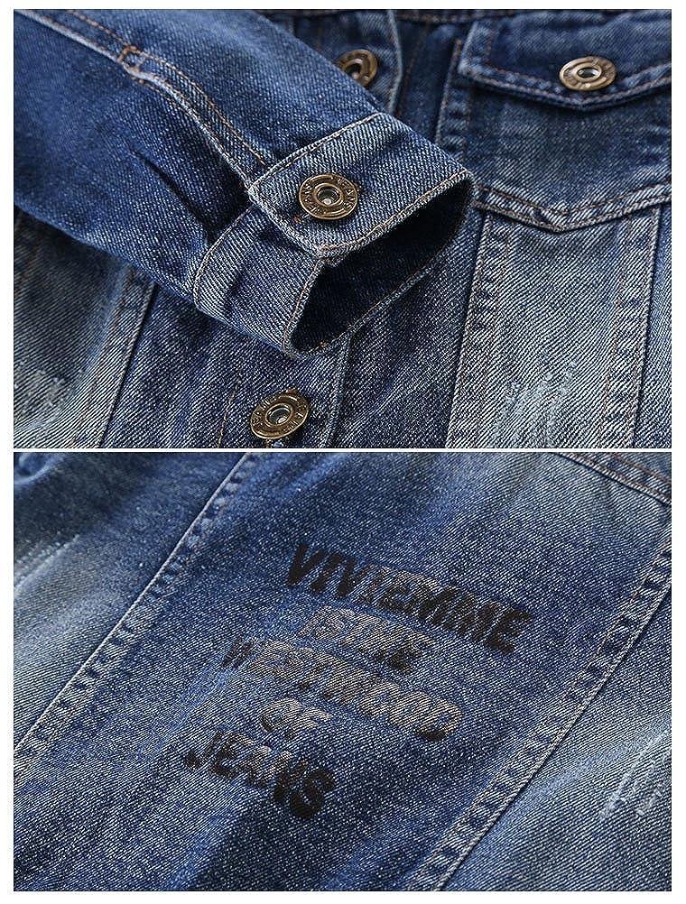 ARAUS Cappotto Giacca di Jeans a Manica Lunga Casuale da Bimbi Ragazzi Primavera 0-8 Anni