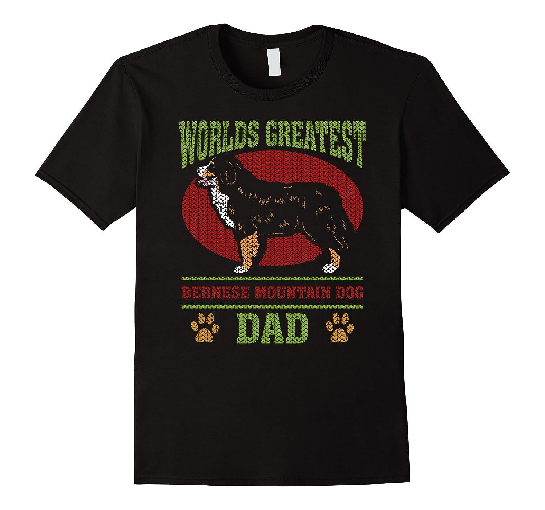 Worlds Greatest Bernese Mountain Dog Dad 2 T-shirt-BN