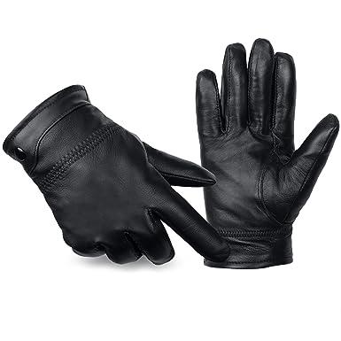 16d43d03fd688f ANVEY Herren Winter Lederhandschuhe Warm gefütterte Handschuhe aus 100%  Leder