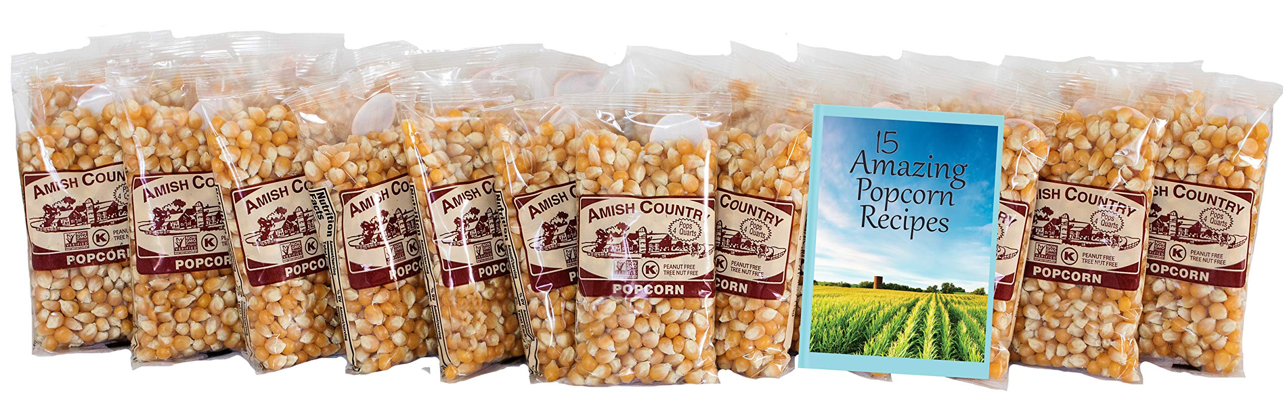 Amish Country Popcorn - Mushroom Popcorn (4 Ounce - 24 Pack) Bags - Old Fashioned, Non GMO, and Gluten Free - with Recipe Guide by Amish Country Popcorn (Image #2)