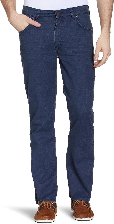 Wrangler Texas Stretch Navy Pantalones para Hombre