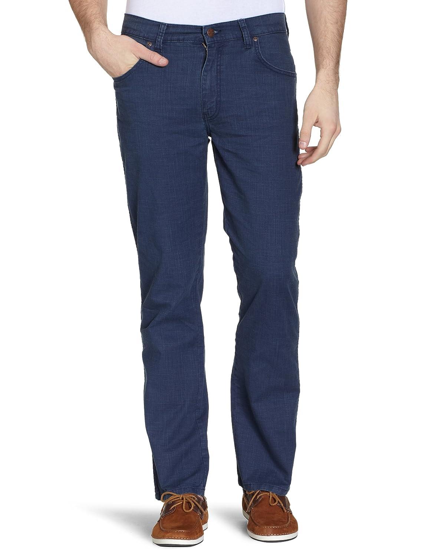 TALLA 34W / 34L. Wrangler Texas Stretch Navy Pantalones para Hombre