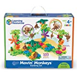 Learning Resources Gears! Gears! Gears! Movin' Monkeys Building Set, 136 Pieces