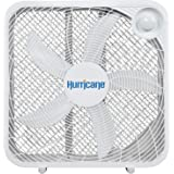 Hurricane Box Fan - 20 Inch, Classic Series, Floor Fan with 3 Energy Efficient Speed Settings, Compact Design, Lightweight -