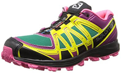 2e66a30856846c Salomon L37-Fellraiser, Chaussures de Trail Femme - Violet - Mystic  Purple/Hot