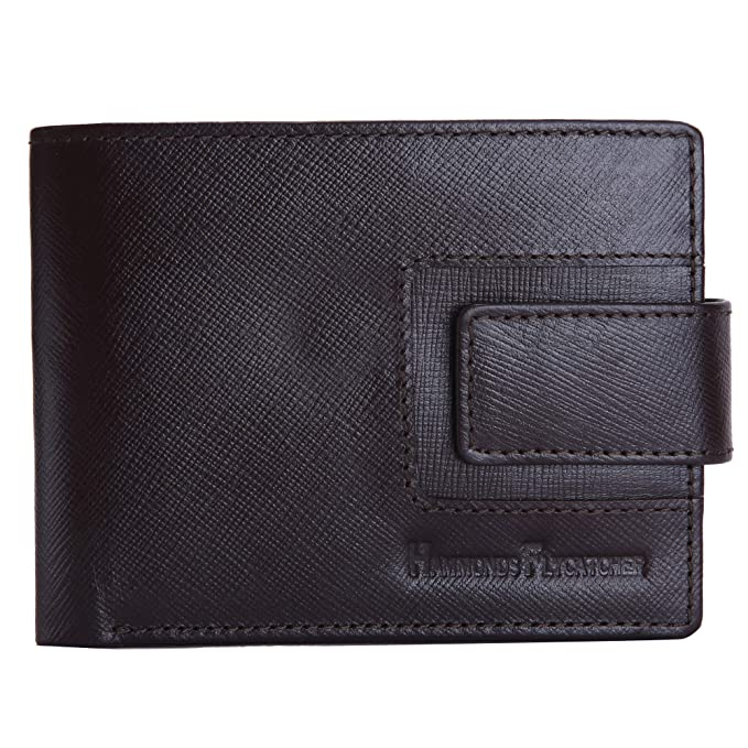 7101a74050ef3 Hammonds Flycatcher Leather Brown Bifold Men s Wallet with Keychain  Amazon. in  Bags