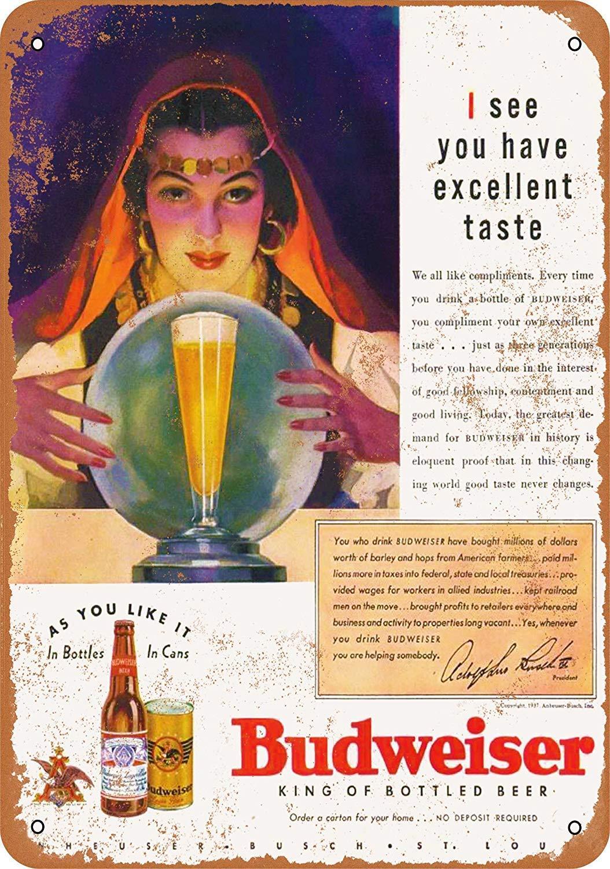 Kia Haop 1937 Budweiser Beer Metal Fender Cartel De Chapa ...