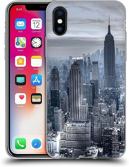Head Case Designs sous Licence Officielle Haroulita New York 3 Places Coque en Gel Doux Compatible avec Apple iPhone X/iPhone XS