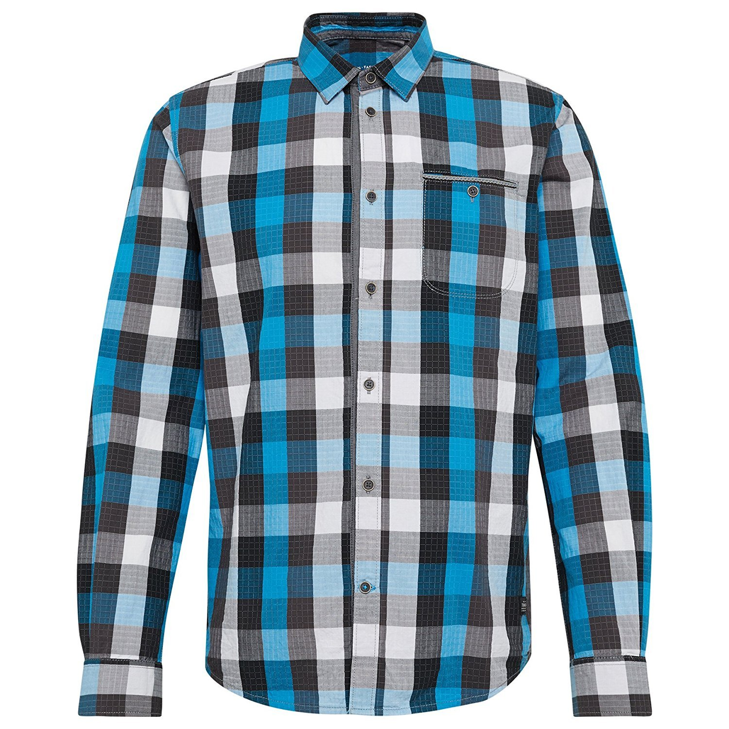 Tom Tailor Herren Freizeithemd Ray Cool Dobby Check Shirt: Amazon.de:  Bekleidung