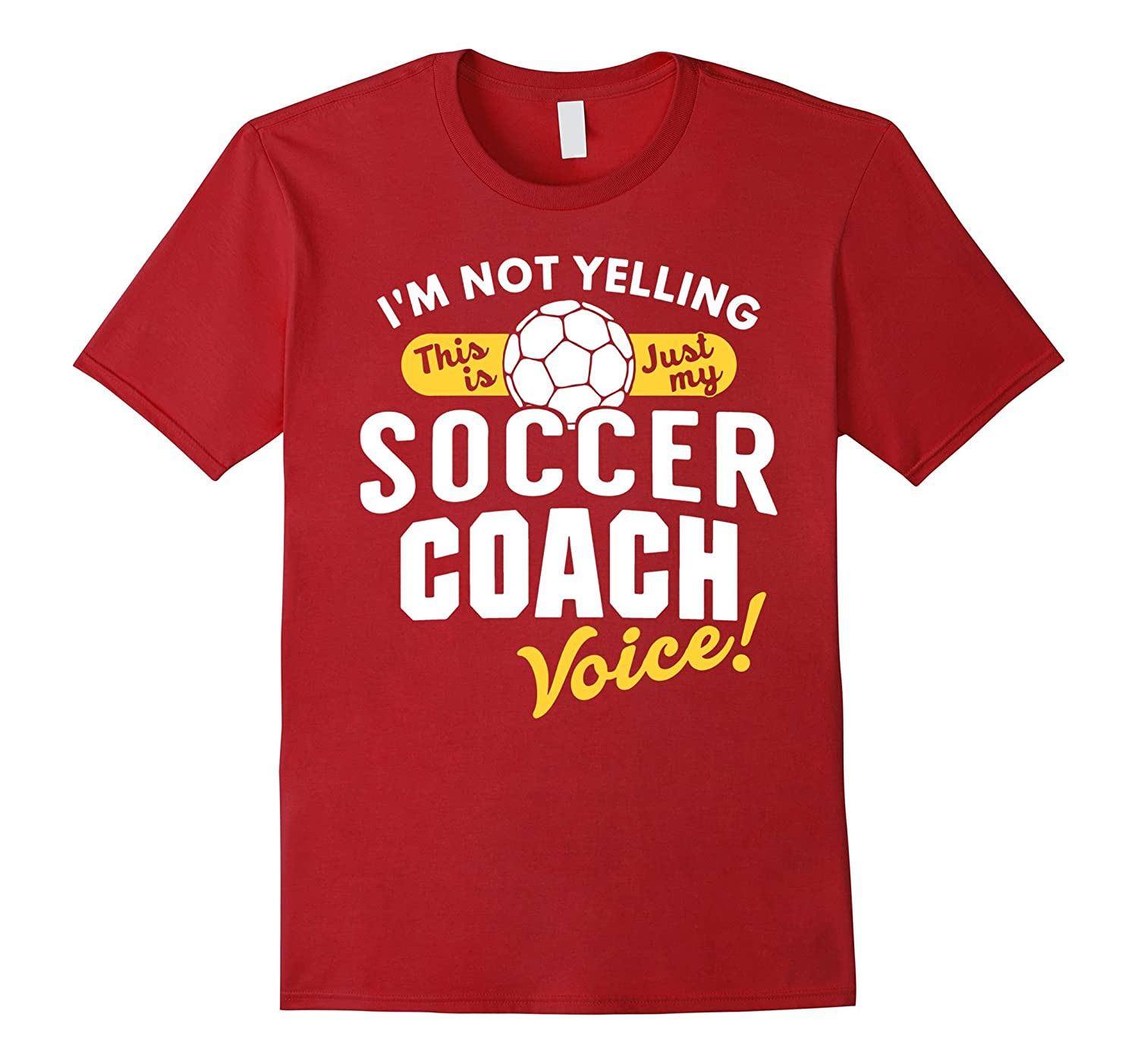 Soccer Coach Voice Shirt Funny Slogan Quote Youth Sports-CD