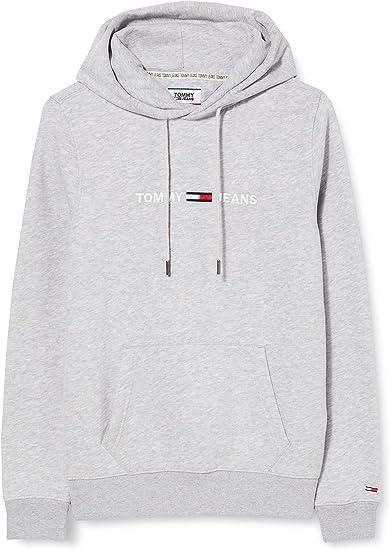 TALLA L. Tommy Jeans TJM Straight Logo Hoodie Sudadera con Capucha para Hombre