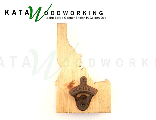Amazon.com: Idaho Shaped Wood Cut-out Bottle Opener - Wall Mount ...