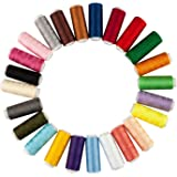 TRIXES 24 Cotton Sewing Thread Assorted Colours Fine Premium Quality Cotton Reels Sewing Accessory