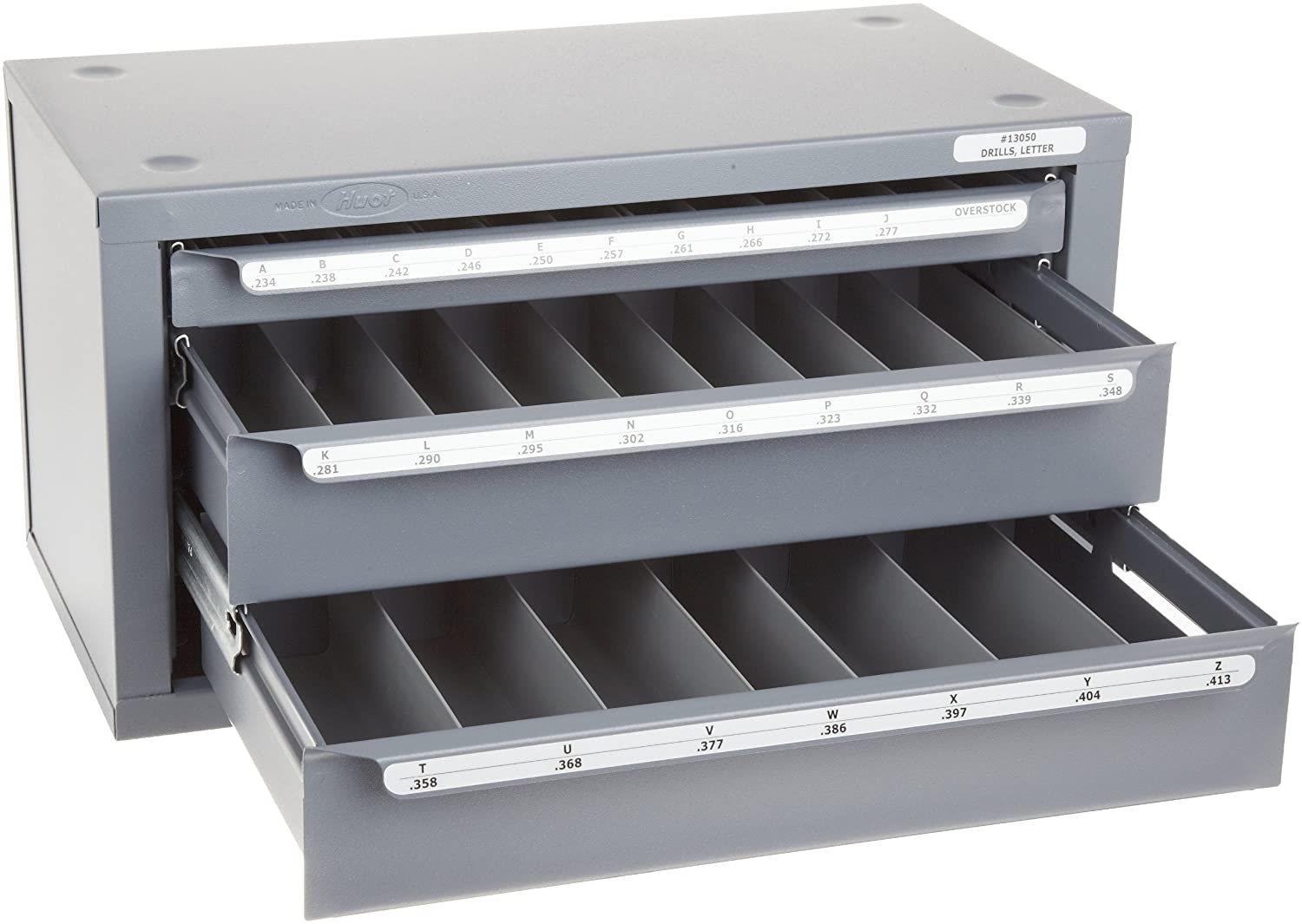 Huot Three-Drawer Drill Bit Dispenser Cabinet for Letter Sizes A ...