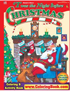 Twas the Night before Christmas Coloring Book (8.5x11): ColoringBook ...