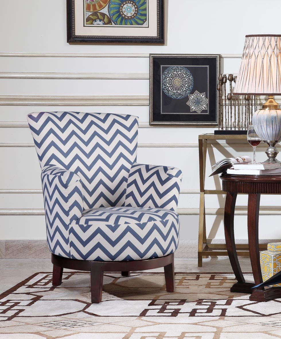 Amazon.com: NHI Express Victoria Swivel Chevron Accent Chair (1 Pack),  Multicolor: Kitchen U0026 Dining