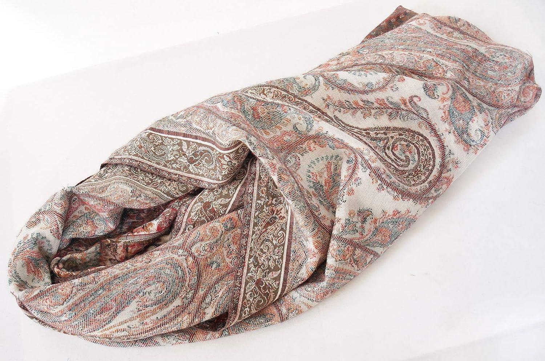 Black Wool Shawl Hand-Cut Kani Versatile Colors Red Paisley Jamavar