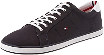 Tommy Hilfiger Mens Flag Trainers, Blue, ...