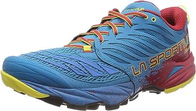 La Sportiva Akasha Tropic, Zapatillas de Trail Running para Hombre, Multicolor (Blue/Cardinal Red 000), 42.5 EU: Amazon.es: Zapatos y complementos