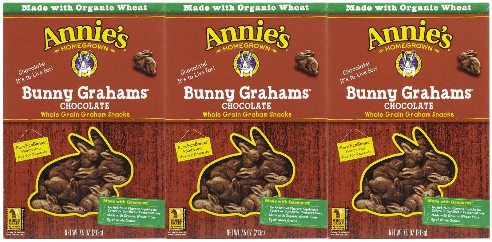 Annie's Homegrown Bunny Grahams - Chocolate - 7.5 oz - 3 pk
