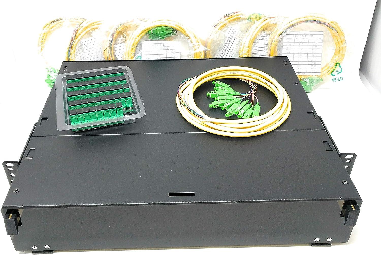 Adapters Patch Only 19 2RU Rack Mount 48 Fiber SC//UPC Blue Steel