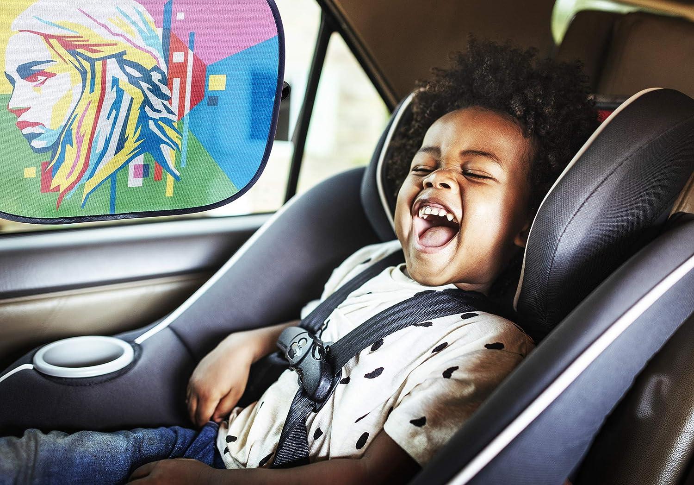TIPOBO Tendine Parasole Bambini Auto Camper Nere LIMITED EDITION Ispirato Trono Di Spade Khaleese Ventose Parabrezza Tendina Oscuranti Accessori Macchina Universali Laterali Posteriore Bimbi Animal